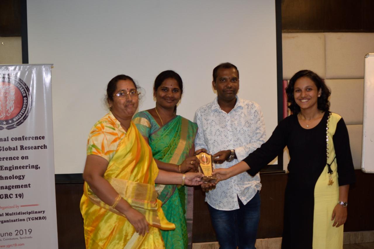 YGRC19 - Best Paper Award under Managemetn Track