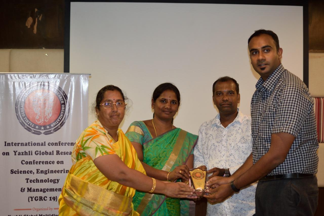 YGRC19 - Best Paper Award under Health Management Track